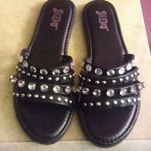 Black slip-ons. Size 10